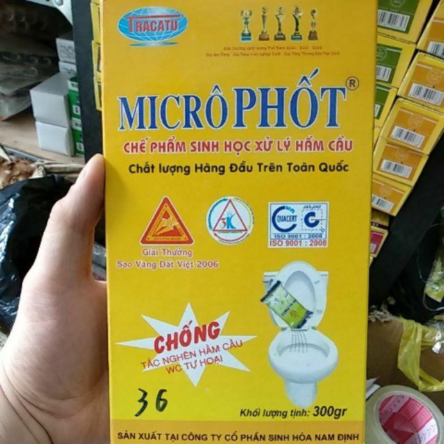 bột thông tắc cống microphot