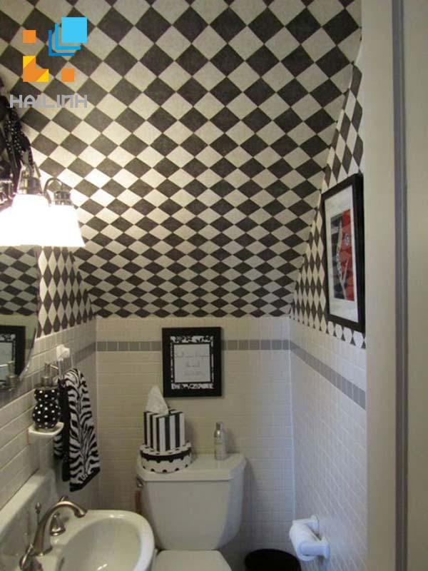 mẫu thiết kế wc dưới cầu thang